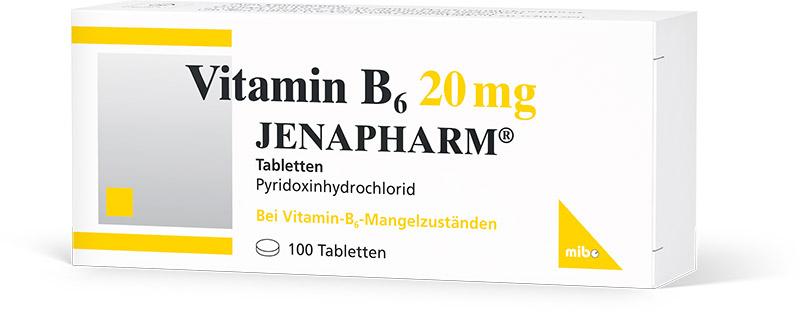 Vitamin B<sub>6</sub> 20 mg Jenapharm<sup>®</sup> Tabletten