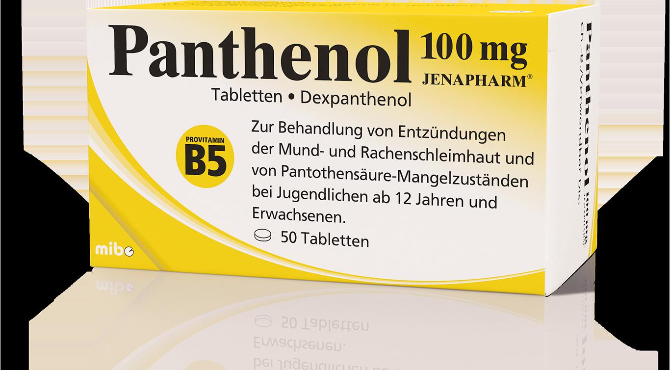Panthenol 100 mg JENAPHARM<sup>®</sup>