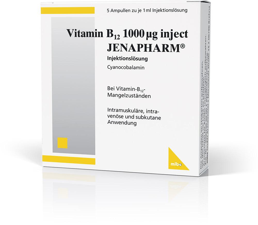 Vitamin B<sub>12</sub> 1000 µg inject JENAPHARM<sup>®</sup>